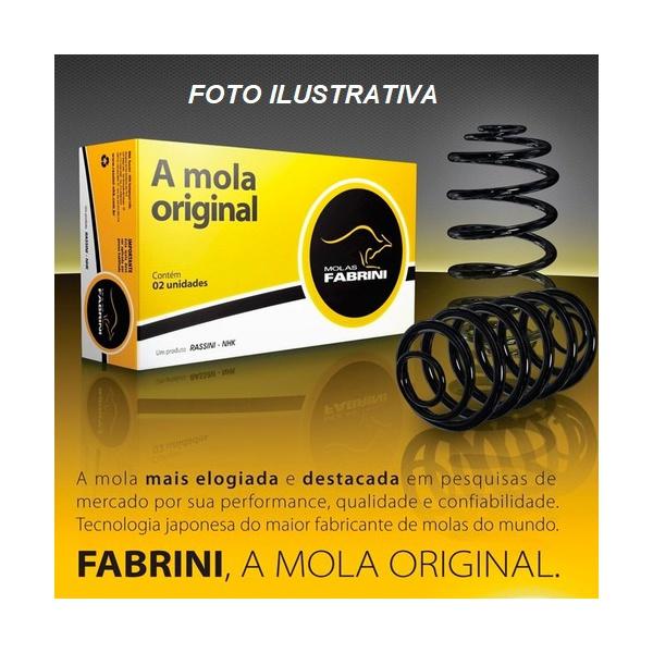 Par de Molas suspensão dianteira Palio e Siena 1.0, 1.5, 1.6 8V e FIRE até 2002 c/ ar, Palio e Siena 1.6 16V até 2000 s/ ar, Strada Working 1.5 até 2001 s/ ar - IFT0363