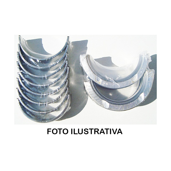 Bronzina de mancal central 0,75 MWM D225, D226, D229 aspirados p/ F1000, F4000, F11000 a F22000, caminhoes Volks etc. Preço unitário.