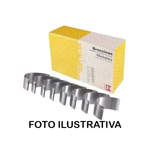 Bronzina de biela 1,00 Fusca, TL, Kombi, SP2, Brasilia, Kombi, Variant, Gol 1300, 1500, 1600 refrigerado a ar - SBB121J 100S