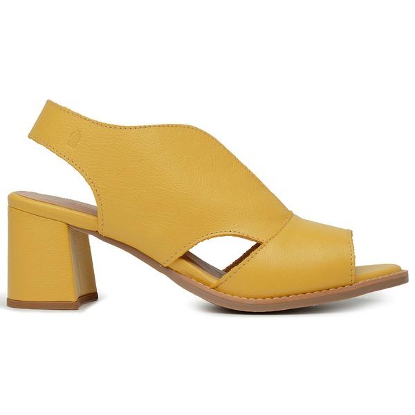 Sandália Salto Grosso Amarela - Veneza - 177-20