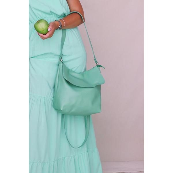 Bolsa de Couro Legítimo Feminina Lotus - Capim Limão