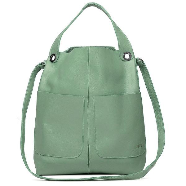 Bolsa de Couro Legítimo Feminina Sacola Alongada Jade - Verde Menta