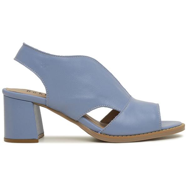 Sandália Salto Grosso Azul Hortênica - Veneza - 177-20