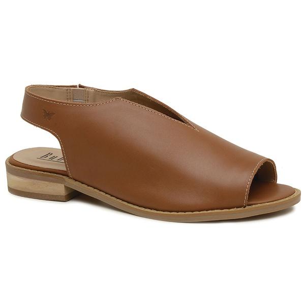 Sandália Salto Baixo Fly Caramelo