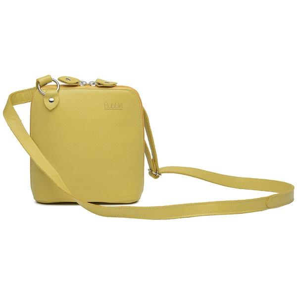 Bolsa de Couro Legítimo Pequena Xodózinha Amarela