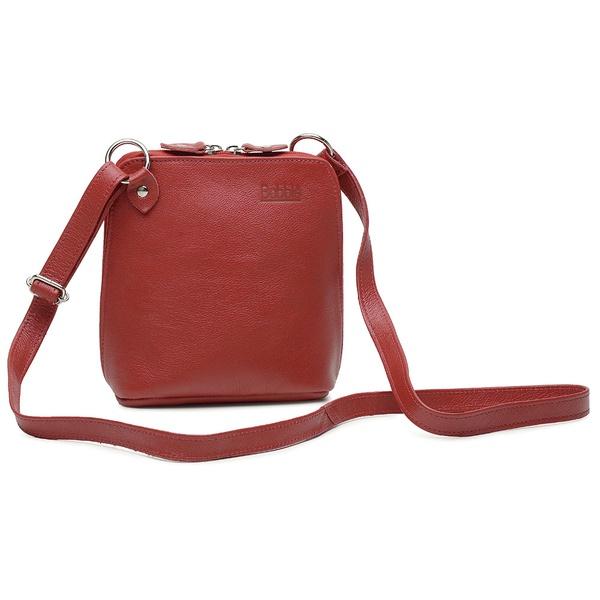 Bolsa de Couro Legítimo Pequena Xodózinha Vermelha