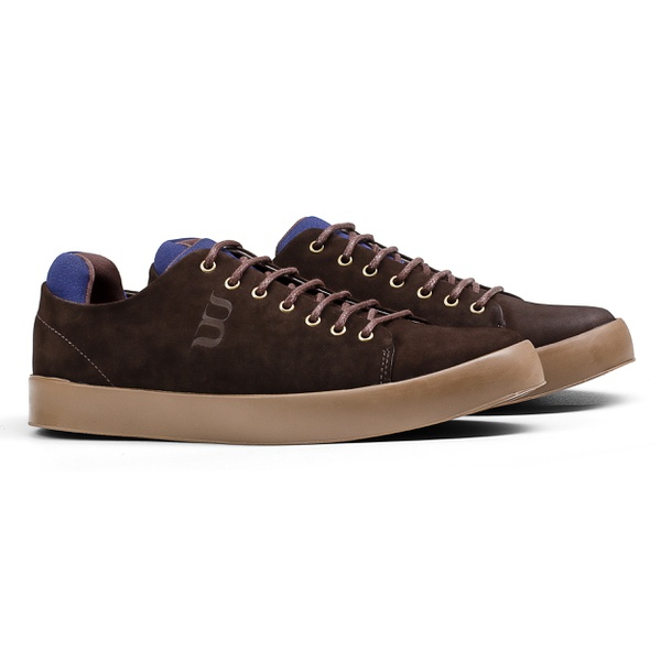 Sneaker Balder Streetwear Marrom/Azul