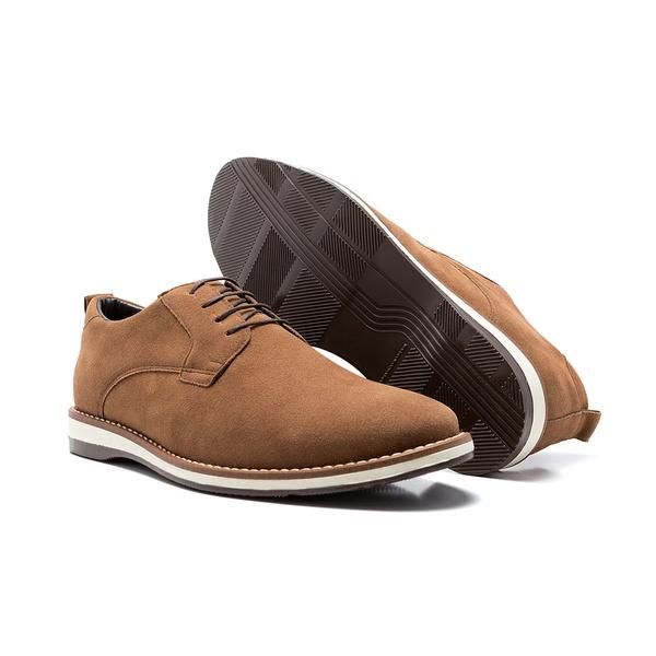 Sapato Derby Tobin Camurça Camel