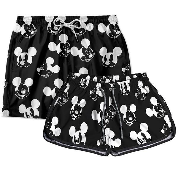 Kit Short Casal Mickey
