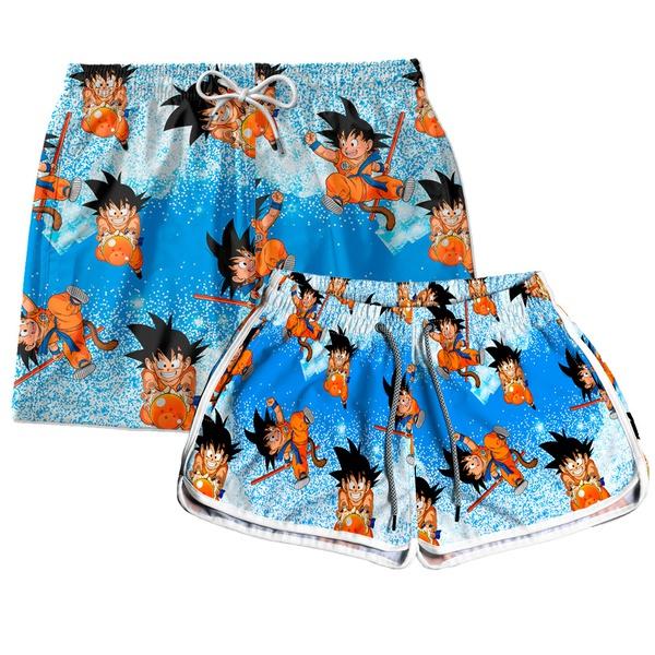 Kit Short Casal Dragon Ball