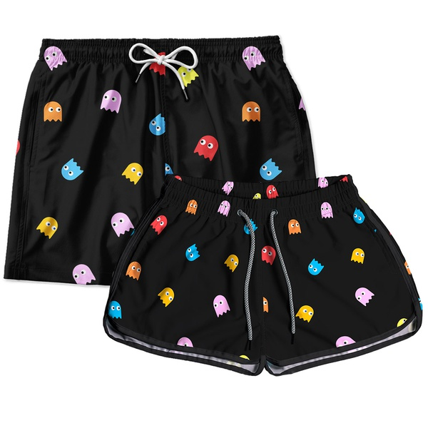 Kit Short Casal Pac Man