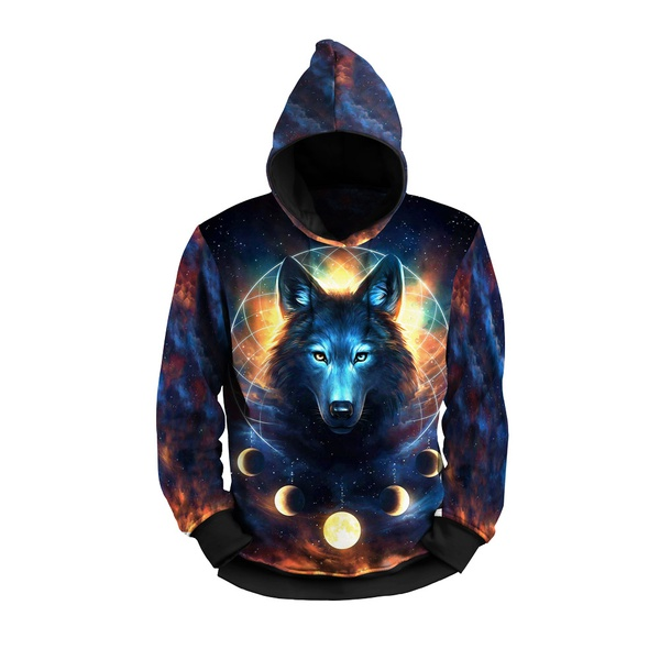 Moletom Lobo Drean Lua Moom Full Print 3d Use Nerd