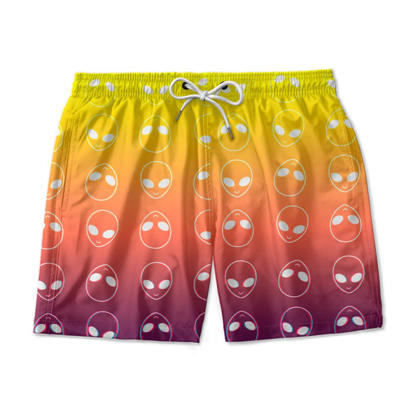 Short De Praia Estampado Abduction Solar Energy Use Nerd