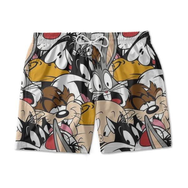 Short De Praia Estampado Looney Tunnes Use Nerd