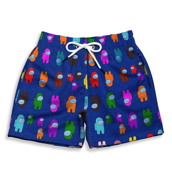 Short Praia Estampado Infantil Among Us Use Nerd