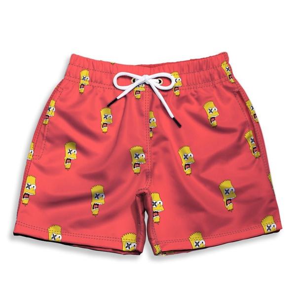Short Praia Estampado Infantil Bart Simpsons Use Nerd