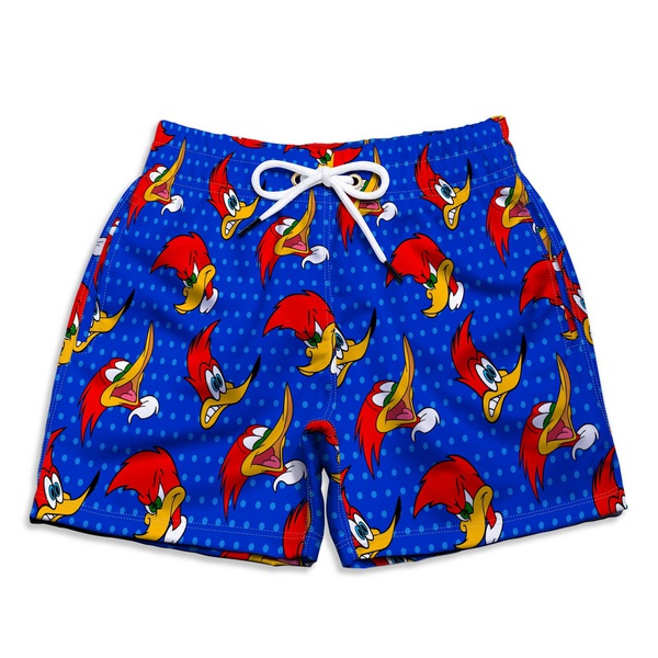 Short Praia Estampado Infantil Pica Pau Use Nerd