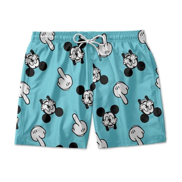 Short Praia Estampado Mickey Azul Use Nerd