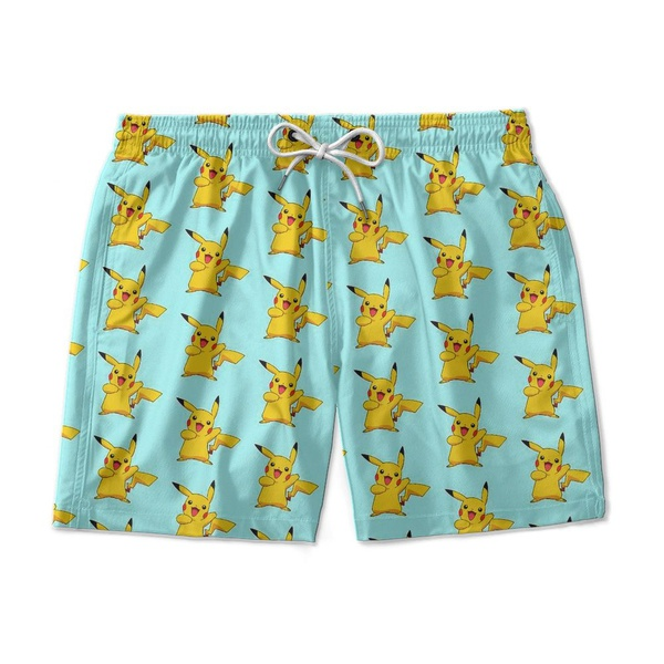 Short Praia Estampado Pica Chu Use Nerd
