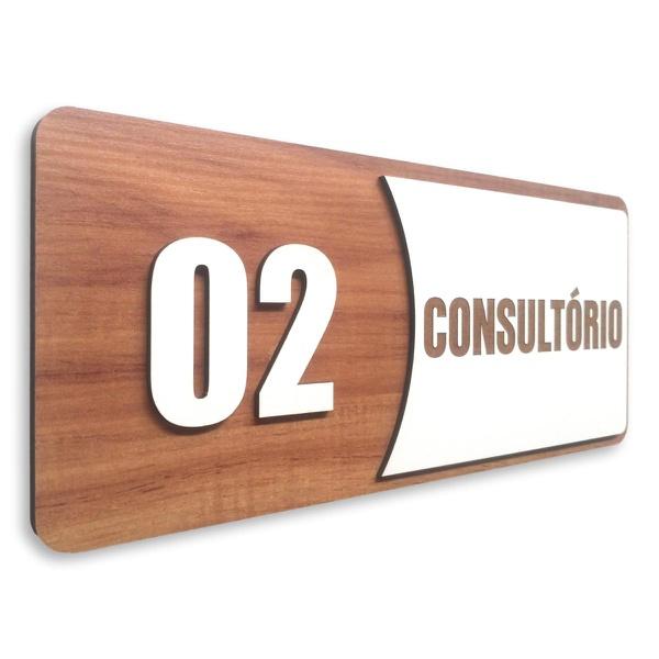Placa De Sinalização | Consultórios - Nº02