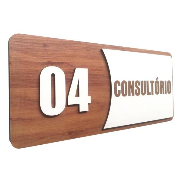 Placa De Sinalização | Consultórios - Nº04