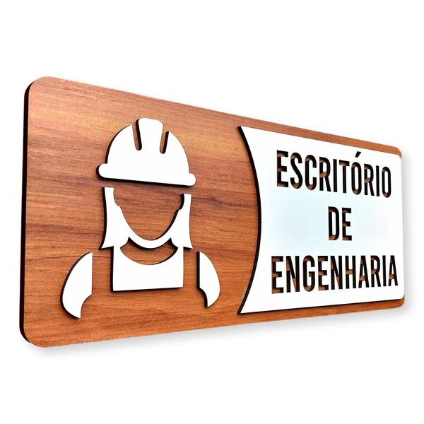 Placa De Sinalização | Engenharia - MDF 30x13cm Copia