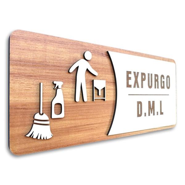 Placa De Sinalização | Expurgo - DML - MDF 30x13cm
