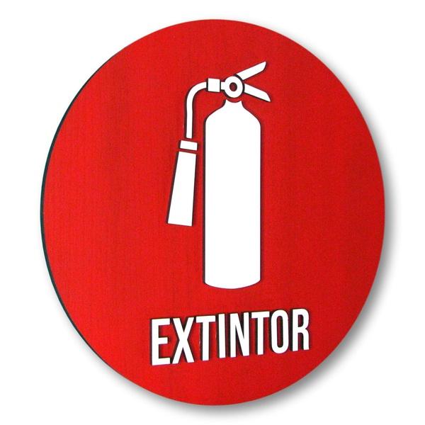 Placa De Sinalização | Extintor - MDF 20x20cm