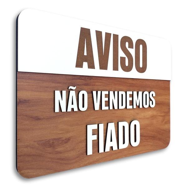 Placa De Sinalização | Aviso - MDF 30x21cm