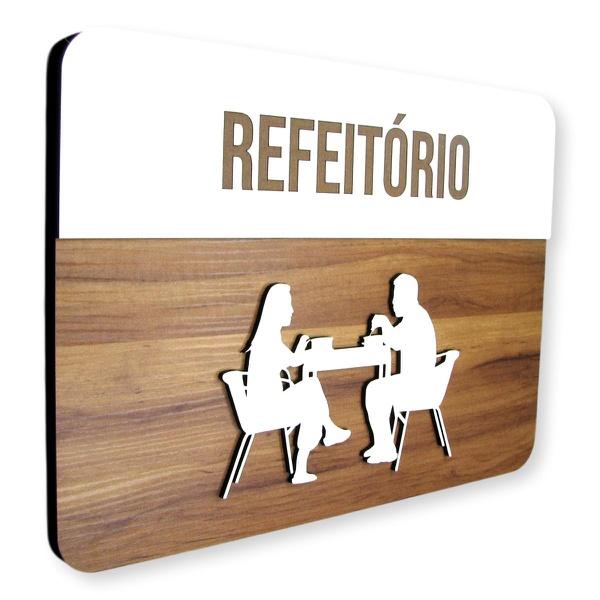 Placa De Sinalização | Refeitório - MDF 30x21cm