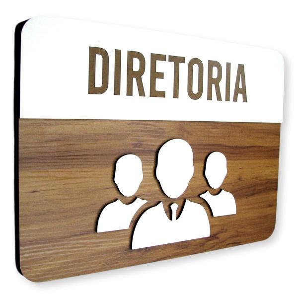 Placa De Sinalização | Diretoria - MDF 30x21cm