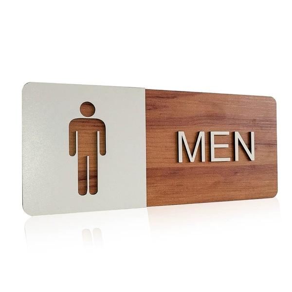 Placa De Sinalização | Men - MDF 30x13cm