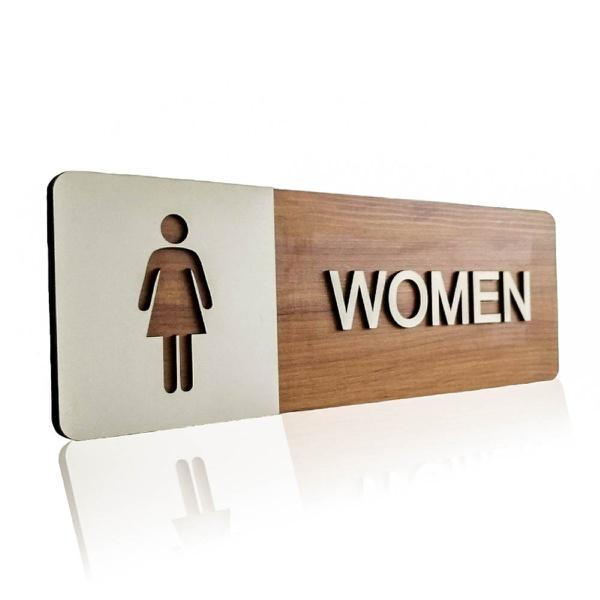 OUTLET - Placa De Sinalização | Women - MDF 30x13cm