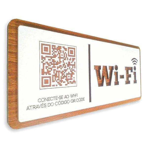 Placa De Sinalização   Uso de Wi-Fi - QR Code