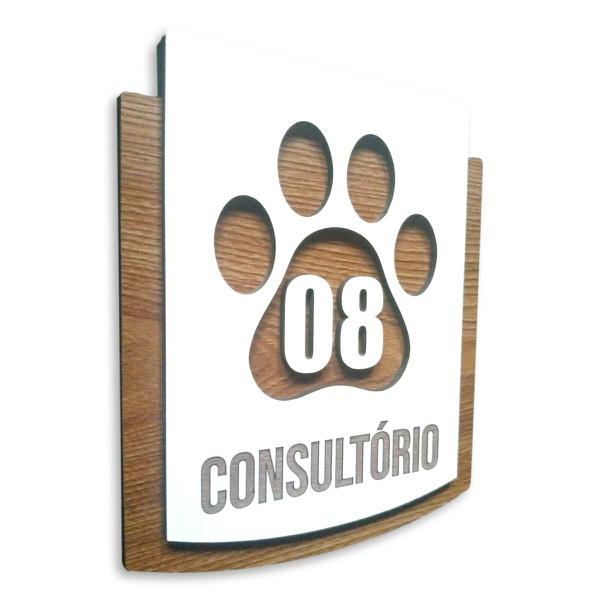 Placa De Sinalização   Consultórios - Nº08