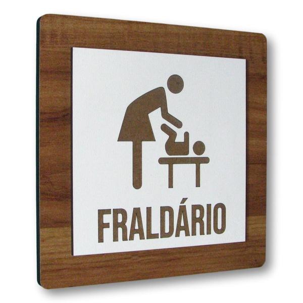 Placa De Sinalização | Fraldário MDF 15x15cm