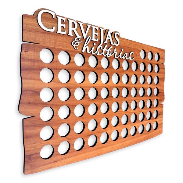 Quadro Decorativo Porta Tampinhas | para até 69 tampinhas