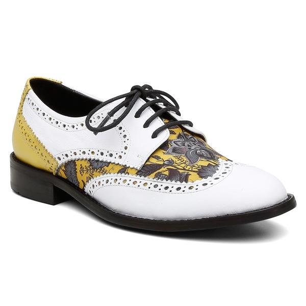 Oxford Violanta Lindoia Branco Amarelo