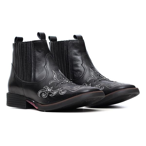 Botina Feminina - Mustang Preto - Freedom Flex - Vimar Boots - 12136-A-VR