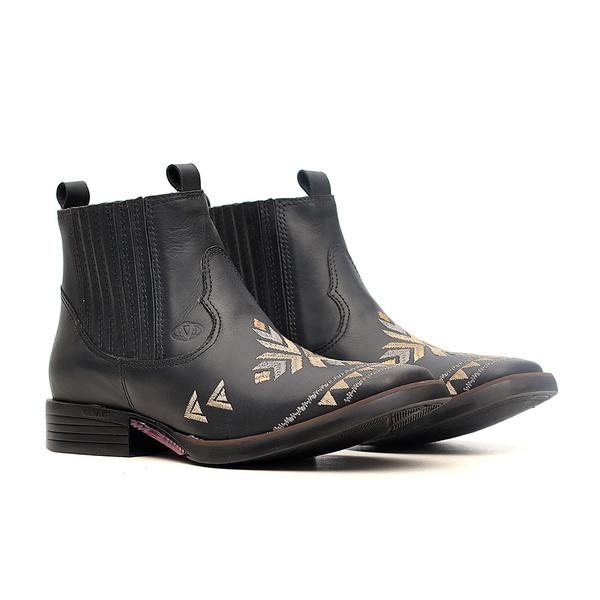 Botina Feminina - Fóssil Preto - Freedom Flex - Vimar Boots - 12186-B-VR