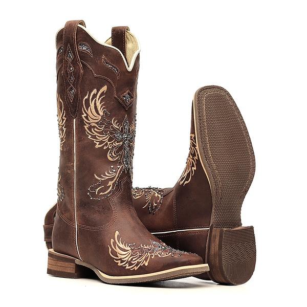 Bota Feminina - Dallas Castor  Glitter Maxxi Preto com Prata - Nevada - Vimar Boots - 13121-B-VR