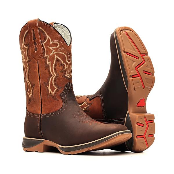 Bota Masculina - Crazy Horse Café | Bambu - PX Flex - Bulls Horse - 50030-A-BU