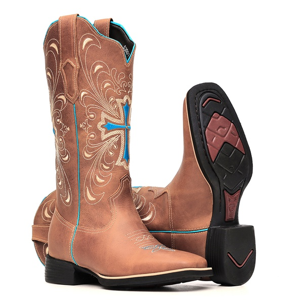 Bota Feminina - Dallas Bambu - VTS - Bulls Horse - 53001-A-BU