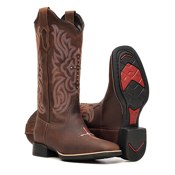 Bota Feminina - Dallas Castor - VTS - Bulls Horse - 53013-A-BU