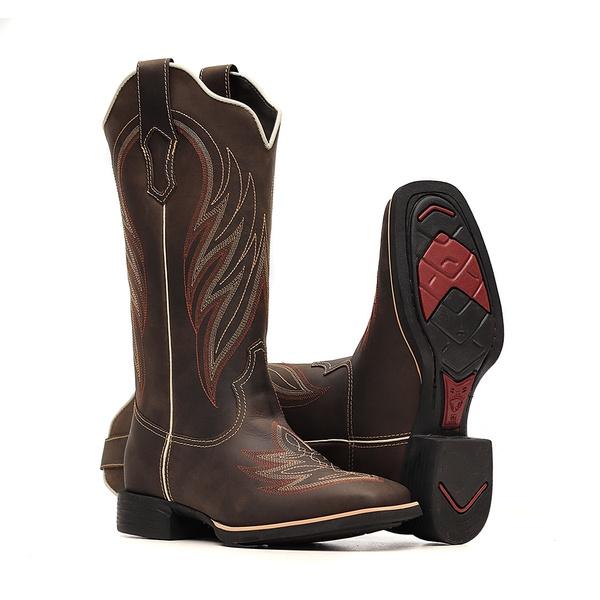 Bota Feminina - Dallas Brown - VTS - Bulls Horse - 53014-A-BU