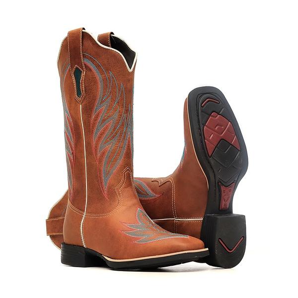 Bota Feminina - Dallas Bambu | Celeste - VTS - Bulls Horse - 53014-B-BU