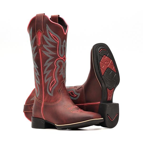 Bota Feminina - Dallas Bordô | Pink - VTS - Bulls Horse - 53015-A-BU