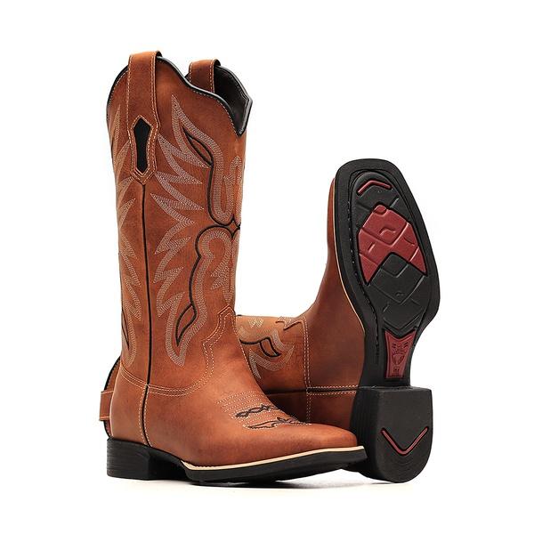 Bota Feminina - Dallas Bambu   Preto - VTS - Bulls Horse - 53015-B-BU