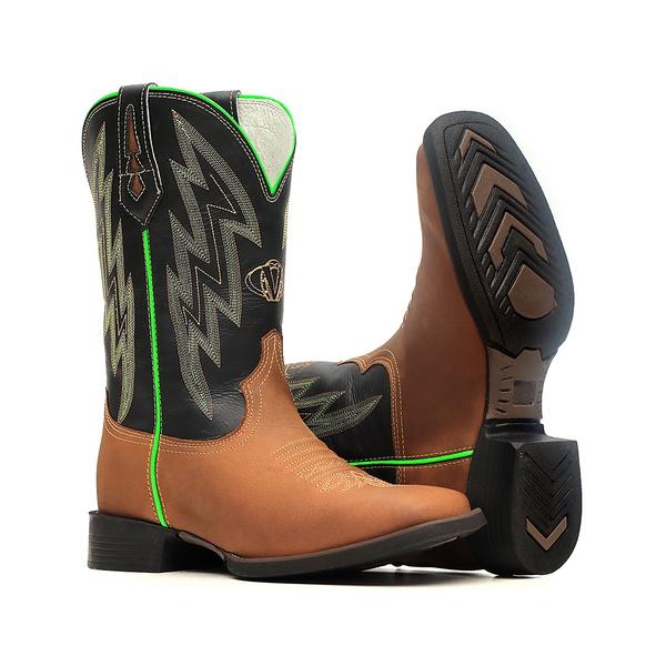 Bota Masculina - Dallas Tabaco | Preto - Texas B - Vimar Boots - 81317-C-VR