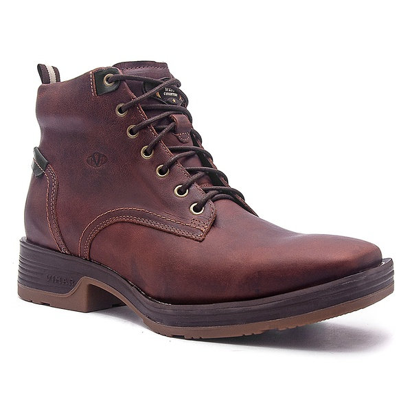 Tênis Country Masculino - Fóssil Sella / Preto - Work - Bico Quadrado - Cano Curto - Solado Strong Shock - Vimar Boots - 85012-D-VR